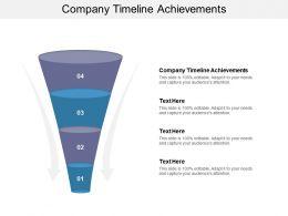 Company Timeline Achievements Ppt Powerpoint Presentation Professional Portrait Cpb