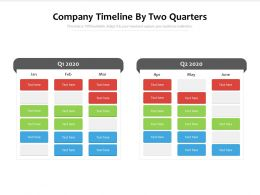 Company Timeline By Two Quarters