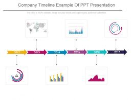 Company Timeline Example Of Ppt Presentation