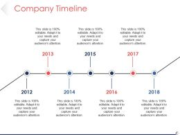 Company Timeline Powerpoint Layout Template 1