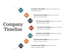 Company Timeline Presentation Outline