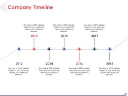 Company Timeline Process Ppt Professional Background Images