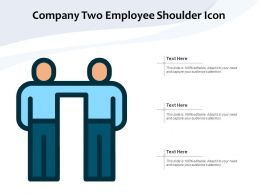 Company Two Employee Shoulder Icon
