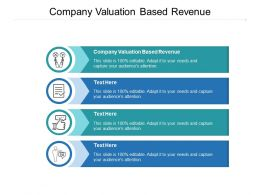 Company Valuation Based Revenue Ppt Powerpoint Presentation Gallery Show Cpb