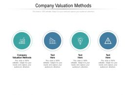 Company Valuation Methods Ppt Powerpoint Presentation Slides Styles Cpb