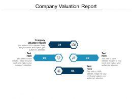 Company Valuation Report Ppt Powerpoint Presentation Model Smartart Cpb