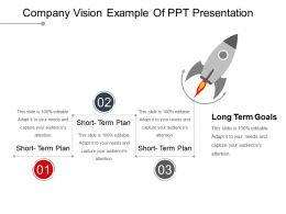 Company Vision Example Of Ppt Presentation