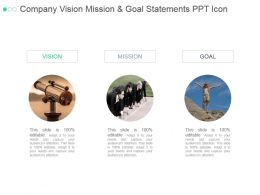 Company Vision Mission And Goal Statements Ppt Icon