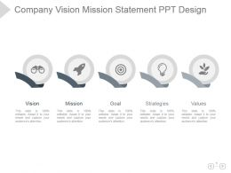 Company Vision Mission Statement Ppt Design
