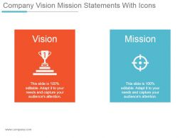 Company Vision Mission Statements With Icons Powerpoint Slide Presentation Tips