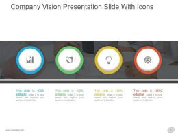 Company Vision Presentation Slide With Icons
