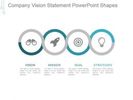 Company Vision Statement Powerpoint Shapes