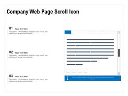 Company Web Page Scroll Icon