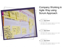 Company Working In Agile Way Using Scrum Approach