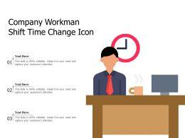 Company Workman Shift Time Change Icon