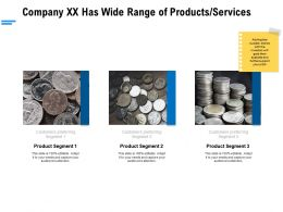 Company Xx Has Wide Range Of Products Services Ppt Powerpoint Backgrounds