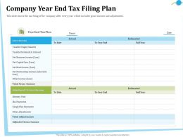 Company Year End Tax Filing Plan Allowable Ppt Powerpoint Presentation Slides Topics