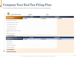 Company Year End Tax Filing Plan Full Powerpoint Presentation Grid