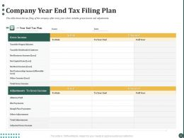 Company Year End Tax Filing Plan Ppt Powerpoint Presentation Good
