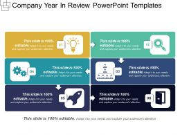 Company Year In Review Powerpoint Templates