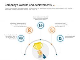 Companys Awards And Achievements Raise Investment Grant Public Corporations Ppt Formats