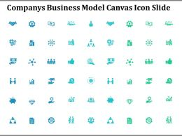 Companys Business Model Canvas Icon Slide