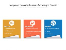 Companys Cosmetic Features Advantages Benefits