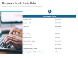 Companys Debt To Equity Ratio Raise Debt Capital Commercial Finance Companies Ppt Microsoft