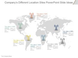 Companys Different Location Sites Powerpoint Slide Ideas