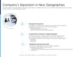 Companys Expansion In New Geographies Raise Funds After Market Investment Ppt Slides
