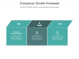 Companys Growth Increased Ppt Powerpoint Presentation Infographics Structure Cpb