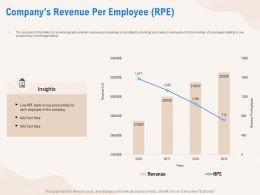Companys Revenue Per Employee RPE Productivity Ppt Powerpoint Presentation Icon Example