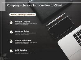 Companys Service Introduction To Client