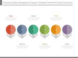 Companys Status Management Diagram Template Powerpoint Slide Introduction
