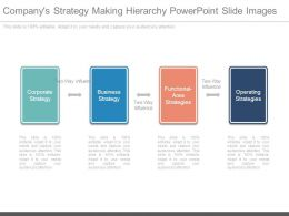 Companys Strategy Making Hierarchy Powerpoint Slide Images
