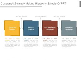 Companys Strategy Making Hierarchy Sample Of Ppt