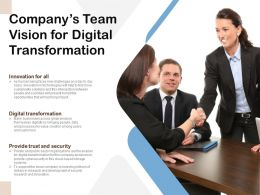 Companys Team Vision For Digital Transformation