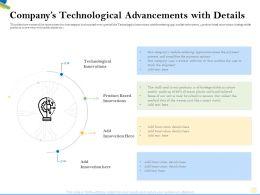 Companys Technological Advancements With Details Ocean Ppt Powerpoint Presentation Slides