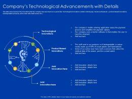 Companys Technological Advancements With Details Wearer Ppt Slides