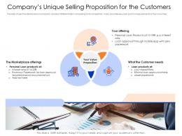Companys Unique Selling Proposition For The Customer Smezzanine Capital Funding Pitch Deck Ppt Templates
