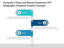 Companys Vision And Mission Statement PPT Graphics Example Infographic Template