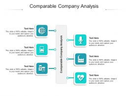 Comparable Company Analysis Ppt Powerpoint Presentation Infographics Professional Cpb