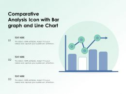 Comparative Analysis Icon With Bar Graph And Line Chart