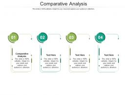 Comparative Analysis Ppt Powerpoint Presentation Summary Graphics Cpb