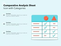 Comparative Analysis Sheet Icon With Categories