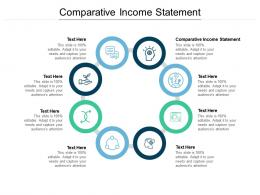 Comparative Income Statement Ppt Powerpoint Presentation Summary Microsoft Cpb
