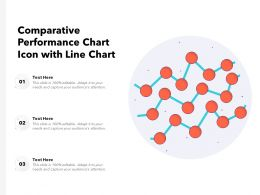 Comparative Performance Chart Icon With Line Chart