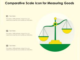 Comparative Scale Icon For Measuring Goods