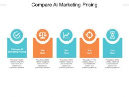 Compare AI Marketing Pricing Ppt Powerpoint Presentation Gallery Backgrounds Cpb