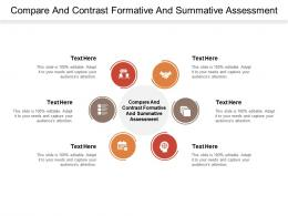 Compare And Contrast Formative And Summative Assessment Ppt Powerpoint Presentation Portfolio Cpb